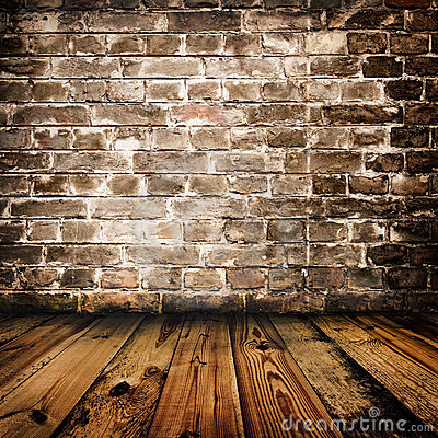 grunge-brick-wall-wooden-floor-15410893